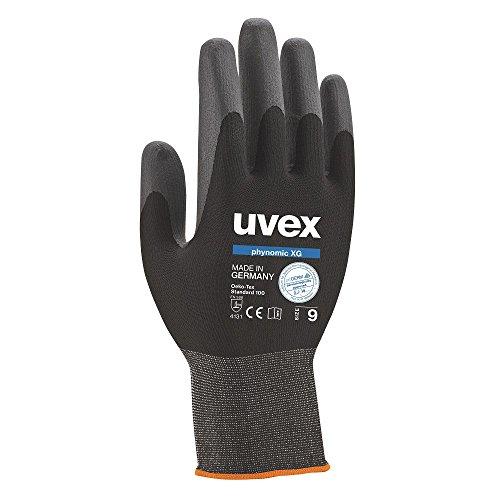 garten handschuhe 3 Paar uvex phynomic XG 60070 Arbeitshandschuhe Schutzhandschuhe Montagehandschuhe Griphandschuhe Gartenhandschuhe EN388 - Größe: 8 (M)