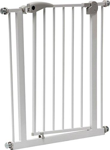 IB-Style - Treppengitter / Türgitter BERRIN | Erweiterbar durch Verlängerungen | 75 - 175 cm | Auto-Close - automatisches Schließen | Metall Weiß| Spannbreite 75 - 85 cm - 3