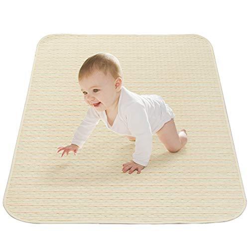 Hbselect coprimaterasso impermeabile protezioni materasso telo assorbente per letto neonato 70x100 cm incontinenza materasso bambini in cotone