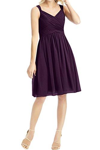 Ivydressing -  Vestito  - linea ad a - Donna Viola scuro