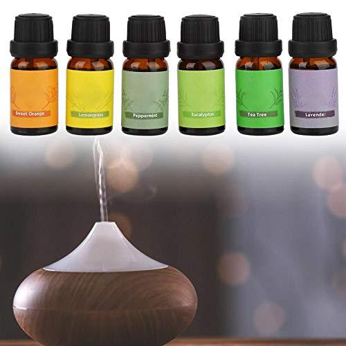 Olio essenziale, oli essenziali per profumato umidificatore di diverse fragranze, 6 X 10 ml Olio essenziale diffusore di fragranza per la casa, produzione di candele