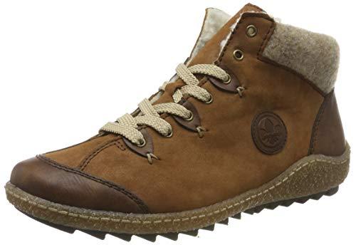 Rieker Damen L7513 Hohe Sneaker, Braun (Chestnut/REH/Wood 23), 42 EU