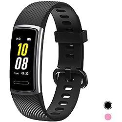 totobay Montre Connectée Bracelet Connecté, Tracker d'Activité Podometre Cardio Homme Femme Enfant Smart Watch IP68 Android iOS Sport Sommeil Calorie GPS Smartwatch pour iPhone Huawei Samsung