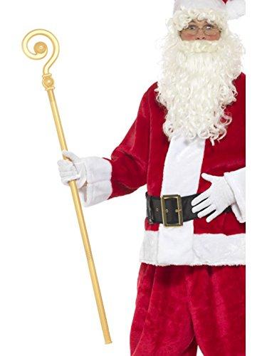 erdbeerclown - Weihnachts Kostüm Accessoire- Nikolaus Stab- Bischofskrümme, 118cm, ()
