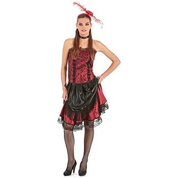 61411 Rouge Femme XS-S Atosa-61411 Atosa-61411-Costume-D/éguisement Cabaret Adulte