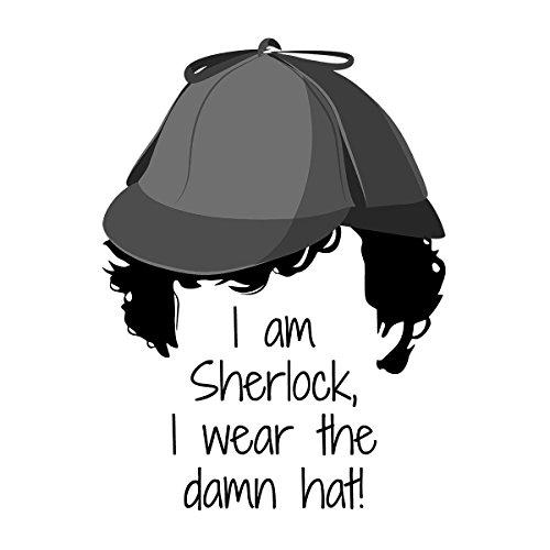 Sherlock Holmes I Wear The Damn Hat Men's Vest White