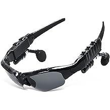 Vidrios de Bluetooth con auriculares inalámbricos deportes al aire libre gafas de sol de las gafas de sol de ciclo de múltiples funciones inteligentes Música vidrios de los vidrios de conversación