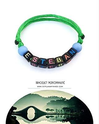 Bracelet ESTEBAN avec Prénom (réversible, personnalisable) homme, femme, enfant, bébé, nouveau-né.