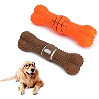 YEKEI Pet Toys,Chew Toys,Ball Bone Shape Dog Squeakers Sound Toys for Dog, Chew Toys Teeth For Dog Cleaning Ball Toy For Small Dogs/Squeaky Ball Dog Tooth Grinding & training Toy