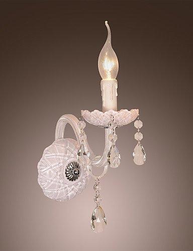 GOUD Lampada da parete applique da parete in cristallo con bulbo candela , 220-240v