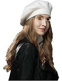 Chengzuoqing Boina de Las Mujeres Tradicional Color sólido Color Liso Un  tamaño de Invierno Beanie Beret Sombrero de Estilo Vintage francés… 5ca4c1f87f1