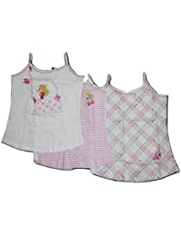 2ff4a04ab BODYCARE Girls Vest with Barbie Prints for Your Little Queen (Pack of 3)