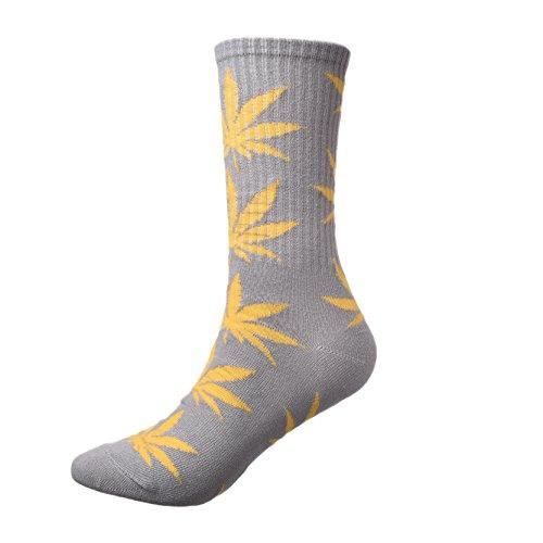 zz-socks-dore-marijuana-weed-feuille-imprime-coton-longues-chaussettes