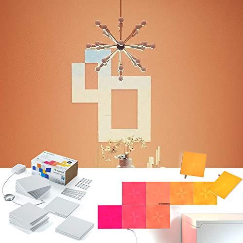 nanoleaf Canvas 17er Set | Licht-Panel mit App-Steuerung, Touch | 16 Millionen Farben, RGBW | Steuerbar via Smartphone/Handy, Tablet & Sprache, Plug & Play Touch Mobile Handy