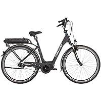 """FISCHER E-Bike City ECU 1860, Schwarz, 28"""", RH 49 cm, Mittelmotor 48 V/557 Wh, Shimano Nexus Schaltung, LCD-Display inkl. Navi-App, 99% fahrfertig vormontiert"""