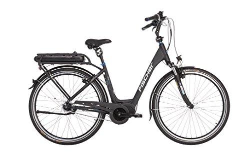 e bike mit mittelmotor und ruecktrittbremse FISCHER E-Bike City ECU 1860, Schwarz, 28