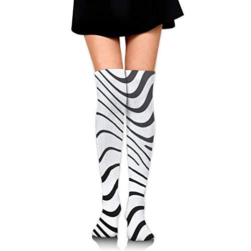Nifdhkw Knee High Socks Zebra Ripple Long Socks Boot Stocking Compression Socks for Women Ripple Boot