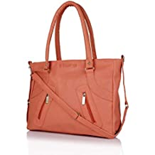 Flora Premium PU Leather Women's Handbag With Adjustable Strap (Peach Color)