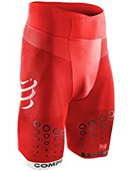Compressport Trail Run - Pantalón unisex, color rojo, talla 2