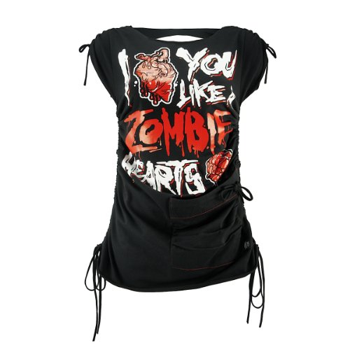 Cupcake Cult Kleid ZOMBIE HEARTS DRESS black-red S