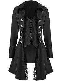 JiaMeng Abrigo Chaqueta de Chaqueta gótica Frock Coat Uniforme Traje Praty Outwear Bombardero Chaquetas y Abrigos Talla Extra