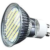 runqiao 4W GU1060SMD (2835) LED Lámpara, recambio para halógeno de 50W lámpara, 350LM, Blanco Frío/Blanco Cálido, 6000K/3200K, ángulo de 120abstrah, bombillas led, bombillas led, 10unidades), blanco frío, GU10 5.00 wattsW