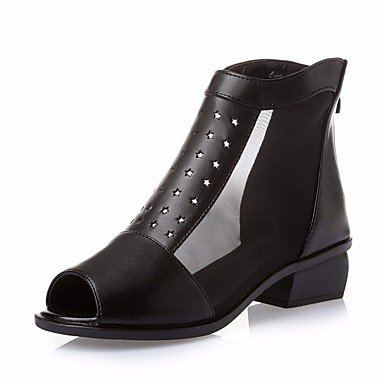 Scarpe Donna FYZSDONNA stivali invernali Mary Jane Pu casual tacco grosso US6 / EU36 / UK4 / CN36