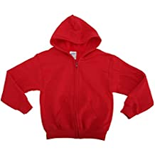 Gildan - Sudadera con capucha y cremallera completa Modelo Heavy Blend Unisex niños niñas