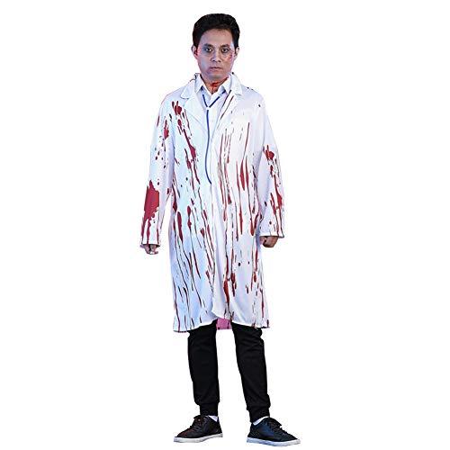 Deylaying Halloween Zombie Doktor & Krankenschwester Kostüm Erwachsene Blutiger Horror Fancy Dress Up für Damen und - Zombie Doktor Für Erwachsene Kostüm