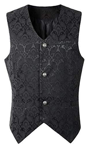 Kostüm Victorian Vampira - LCXYYY Herren Gothic Mittelalter Weste Vintage Frack Jacke Retro Gothic Victorian Steampunk Coat Uniform Kostüm Vampir Cosplay Verkleidung