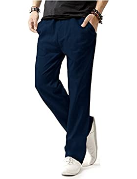 [Patrocinado]Match 8059 - Pantalón slim tapered Lino para hombre