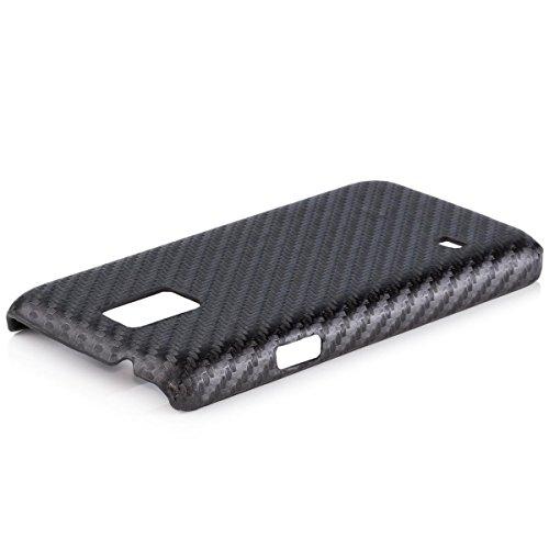 iCues Apple Apple iPhone 4/4S Carbon Cover - Schwarz - Hochwertiges Carbon Design + Displayschutzfolie schwarz
