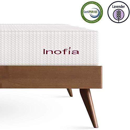 Inofia Matratze 140x200 Memory Foam Matratze Kaltschaummatratze H3 Höhe 20cm Weiß,waschbar Bezug für Allergiker,Lavendel,ÖKO-TEX 100,100 Nächte Probeschlafen,10 Jahre Garantie(140 x 200 cm)