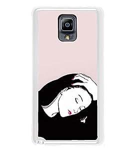 Fiobs Designer Back Case Cover for Samsung Galaxy Note 3 :: Samsung Galaxy Note Iii :: Samsung Galaxy Note 3 N9002 :: Samsung Galaxy Note 3 N9000 N9005 (Lady Girl Ladki Scarf Lovely Good Gift )