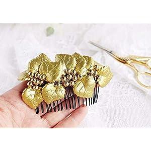 Blattgold Braut Haar Kamm Vintage Kopfschmuck