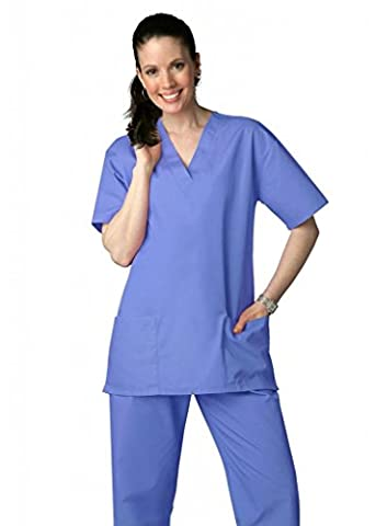 Adar Medical Unisex Drawstring Hospital Nurse Scrub Set (Available in