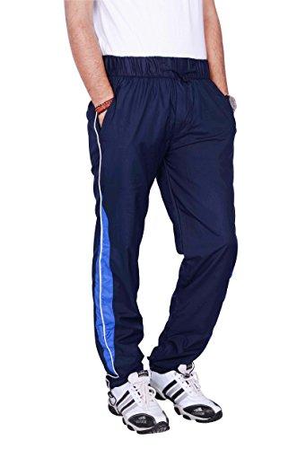 JTInternational Blue Cotton Regular Fit Men's Cargo Track Pant (X-Large)