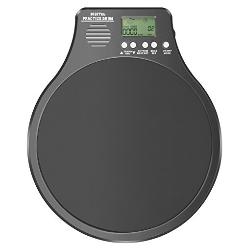 Neewer 3-in-1 Digitales LCD-Display Tragbares Trommel-Übungspad Metronom-Schlagzeuger-Übungspad mit einstellbarem Rhythmus-Schlag-Tempo (Schwarzes)