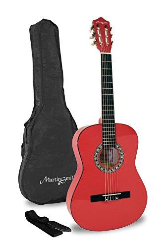 Martin Smith Klassikgitarre 34 Zoll 1/2 Größe, rot (Gitarre Klassische Martin,)