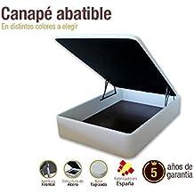 Canapé abatible Blanco. DISPONIBLE EN TODAS LAS MEDIDAS (180 x 200 cm)