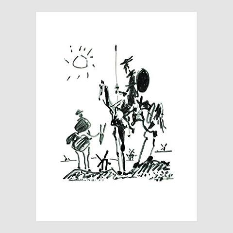 Kunstdruck Poster Bild von Pabla Picasso - Don Quichotte 60 x 80 cm ohne Rahmen