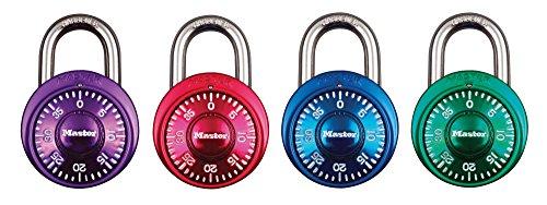 Master Lock Rundes Zahlenschloss 48 mm - Farblich sortiert, 1530EURDCM