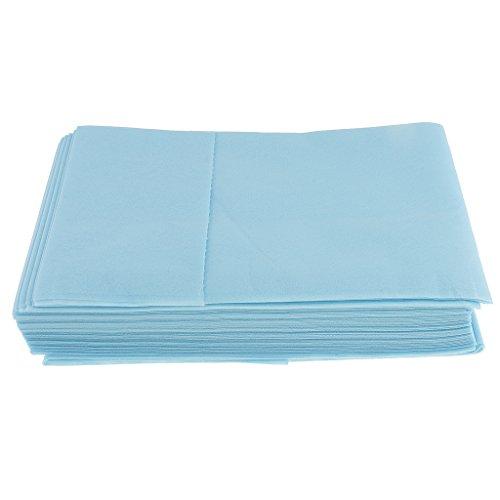 Sharplace Krankenunterlagen Einwegunterlagen Einmalunterlagen 80x180cm (10 Stück Pack) - Blau