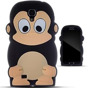Zooky® Noir SINGE silicone Coque / Étui / Cover pour Samsung Galaxy S4