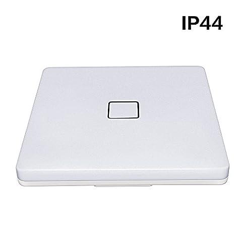 Moderne carré LED Plafonnier, 24W au, IP44résistant à l'eau, Blanc naturel pour chambre à coucher, salle de bain, salon, & # Xff0C; 3ans de garantie [Classe énergétique A +]