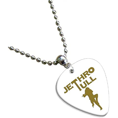 Jethro Tull Hot Foil on White Pick Collana con plettro