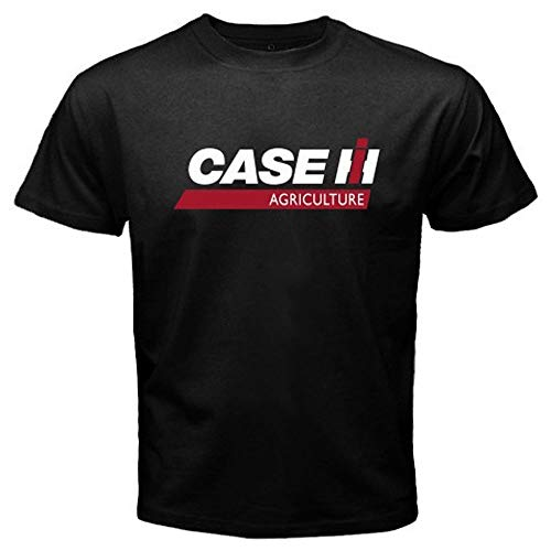 New Case IH Tractor Agriculture Logo Men's Black T-Shirt