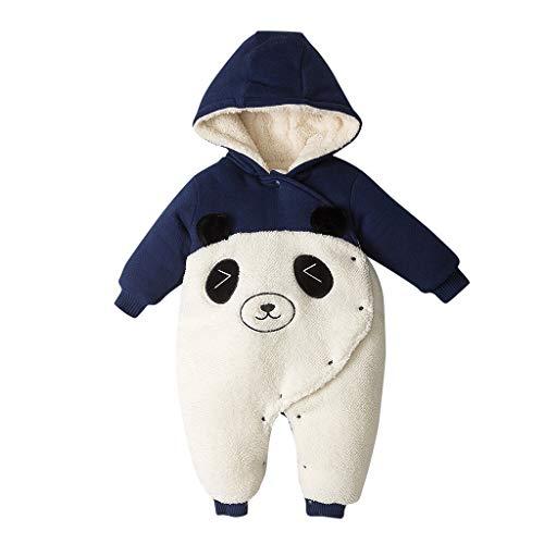Dasongff Baby Winter Overall Jumpsuit Neugeborenes Mädchen Junge Niedlich Bär Strampler Schneeanzug Outfits Spielanzug mit Kapuze