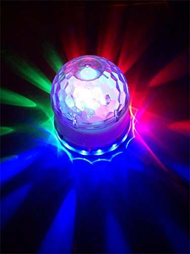 Ibiza LED UFO Lichteffekt LED-Untertasse Decken-Beleuchtung (48 leuchtstarke RGB LEDs, Automatik, Ne - 3