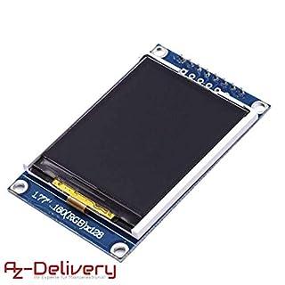 AZDelivery ⭐⭐⭐⭐⭐ SPI TFT-Display mit 1,77 Zoll und 128x160 Pixeln für Arduino mit Gratis eBook!